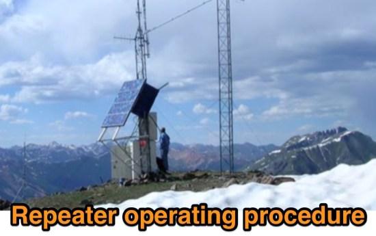 Repeater operating procedure