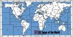 Карта зон CQ