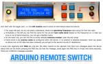 Arduino remote antenna switch