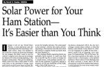 Solar Power for Your Ham Station