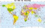 DX карта мира