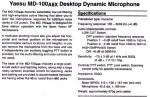 Yaesu MD-100 Manual