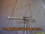 2 Meter Backpack Quad Antenna
