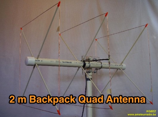 2 Meter Backpack Quad Antenna