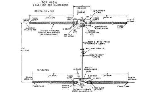 2 Element Helical Yagi Beam for 40m