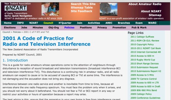 A Code of Practice for Radio and Television Interference