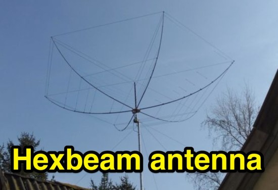 Hexbeam 6 bands antenna
