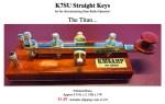 K7SU CW Straight Key