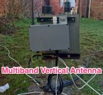 OZ1CX - Multiband vertical antenna no tuner LC matched