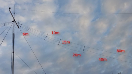 6 Bands Fan Dipole Antenna