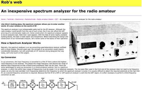 Homemade spectrum analyzer
