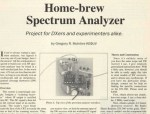 Homebrew Spectrum Analyzer