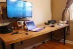 Ham radio shack desk project
