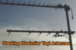 How to stack dissimilar yagi antennas