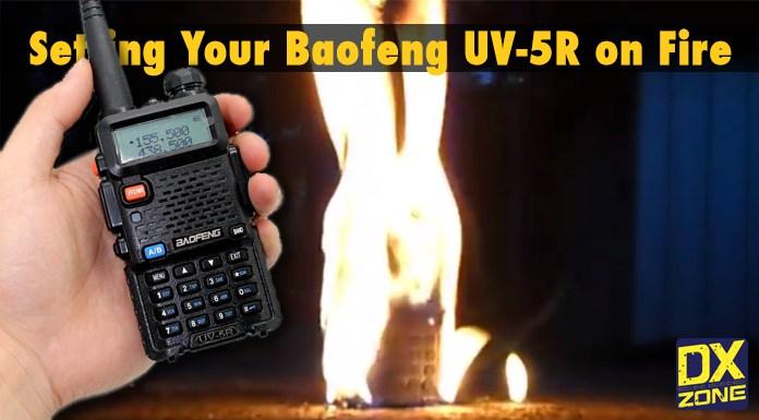 Baofeng UV-5R On Fire