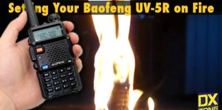 Baofeng UV-5R on Fire