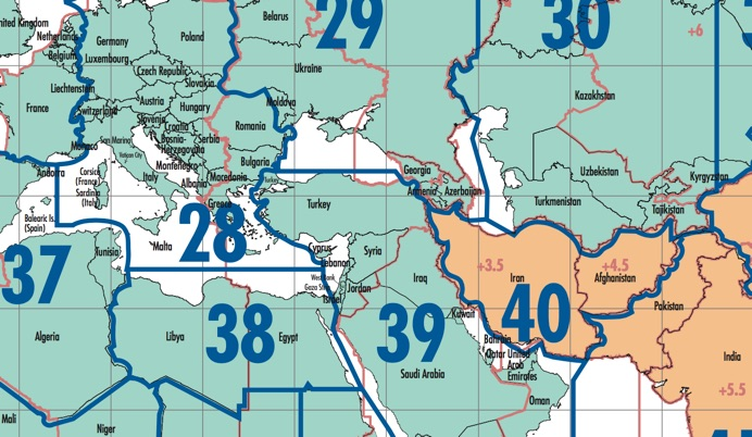 Cq dx zones world map east europe and middle east gumiabroncs Images