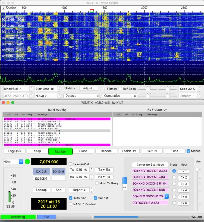 WSJT-X Version 1 8 0-rc3