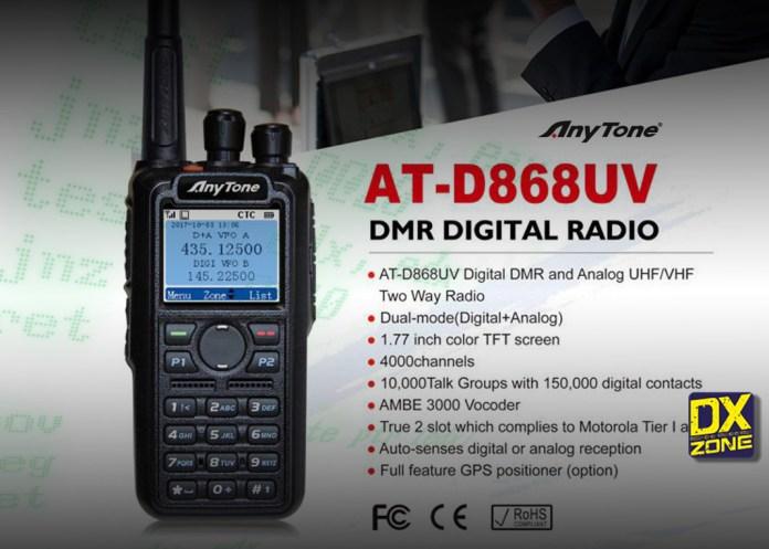 Anytone D868UV DMR / FM handheld transceiver
