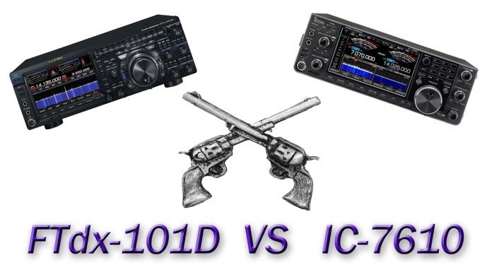 IC-7610 vs FTdx-101D Head to Head Review