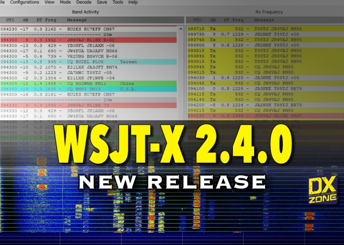 WSJT-X 2.4.0 new version available to download