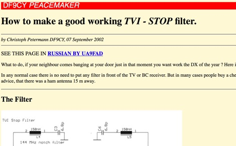 TVI and BCI Filters