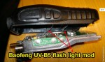 How to use Baofeng UV-B5 flash light switch for LCD background light