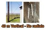 High Performance 40 Meters Vertical