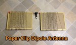 Paper Clip Dipole Antenna