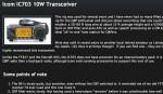 Icom IC703 10W Transceiver