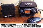 FT-817ND and IC-703Plus QRP Radios
