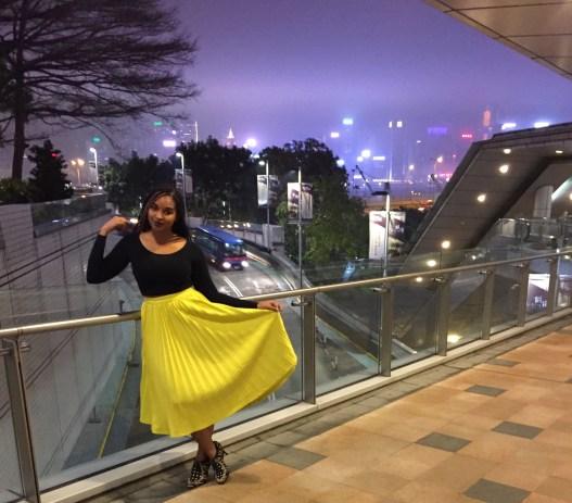 Dyandra-Raye-China-TabbiesOnline-Yellow-Pleated-Skirt