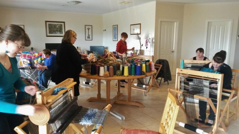 Private home Saori weaving workshop