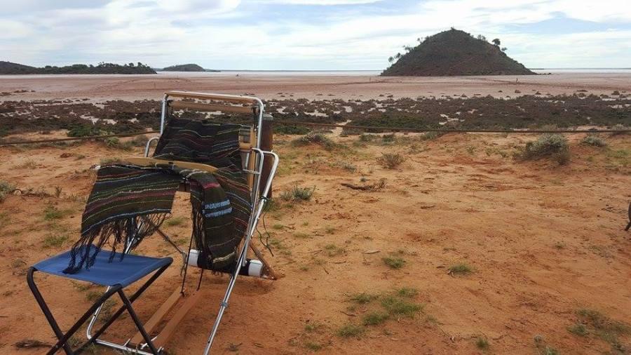 SAORI Piccolo loom in the Australian landscape