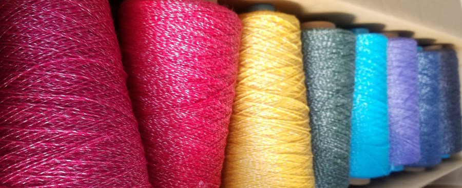 SAORI Rayon cones from Dyeing To Weave