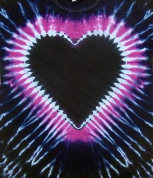 tie dye, tie-dye, tie dyed, tie-dyed, shirt, women, heart