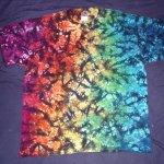tie dye, tie-die, tie-dyed, tie dyed, shirt rainbow