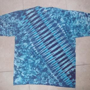 tie dye, tie-die, tie-dyed, tie dyed, shirt , blue