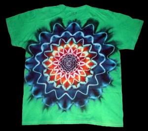 tie dye, tie-dye, tie dyed, tie-dyed, shirt, green, purple, star