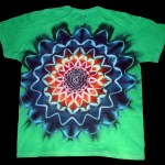 tie dye, tie-dye, tie dyed, tie-dyed, shirt, green, purple, star