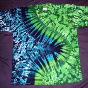 tie dye, tie-dye, tie dyed, tie-dyed, shirt, swirl, green