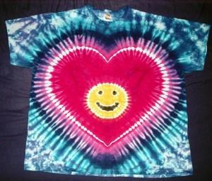 tie dye, tie-dye, tie-dyed, tie dyed, heart, smiley
