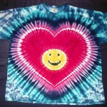 tie dye, tie-dye, tie-dyed, tie dyed, heart, smiley