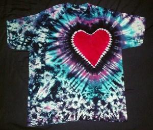 tie dye, tie-dye, tie dyed, tie-dyed, shirt, heart, marble