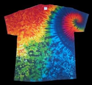 tie dye, tie-dye, tie dyed, tie-dyed, shirt, rainbow, swirl