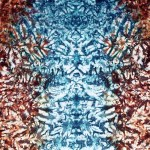 Rusty Blue Faces tie dye