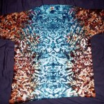 tie dye, tie-dye, tie dyed, tie-dyed, shirt, rusty, blue, mirrored