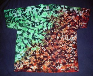 tie dye, tie-dye, tie dyed, tie-dyed, shirt, rusty, marble, green