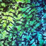 lime blue marble -ladies tie dye