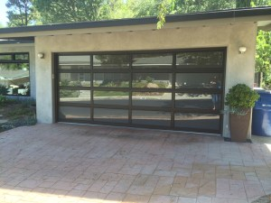 Mirrored Glass Garage Door